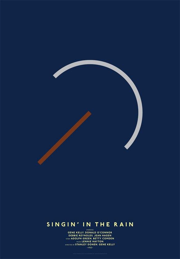 Дизайнер переделал постеры кинохитов в минималистском стиле. Изображение № 6.