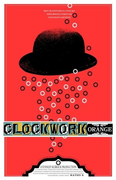A Clockwork Orange - 20 кинопостеров на тему ультранасилия. Изображение № 6.