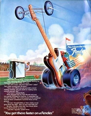 Винтажные рекламные постеры фирмы Fender. Изображение № 5.