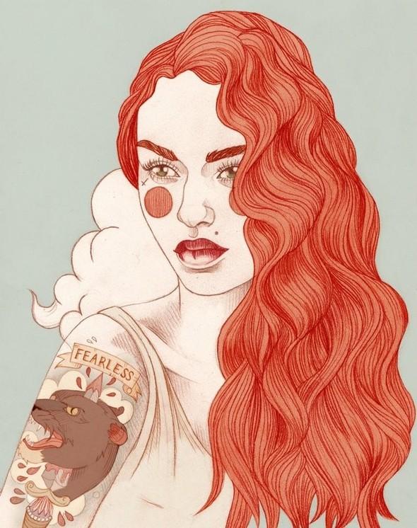 Карандашные рисунки художницы из Лондона Liz Clements.. Изображение № 4.