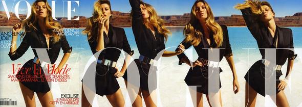 Изображение 1. Cover to cover: Джастин Бибер для Love, Жизель Бундхен для Vogue и Том Форд для Interview.. Изображение № 2.