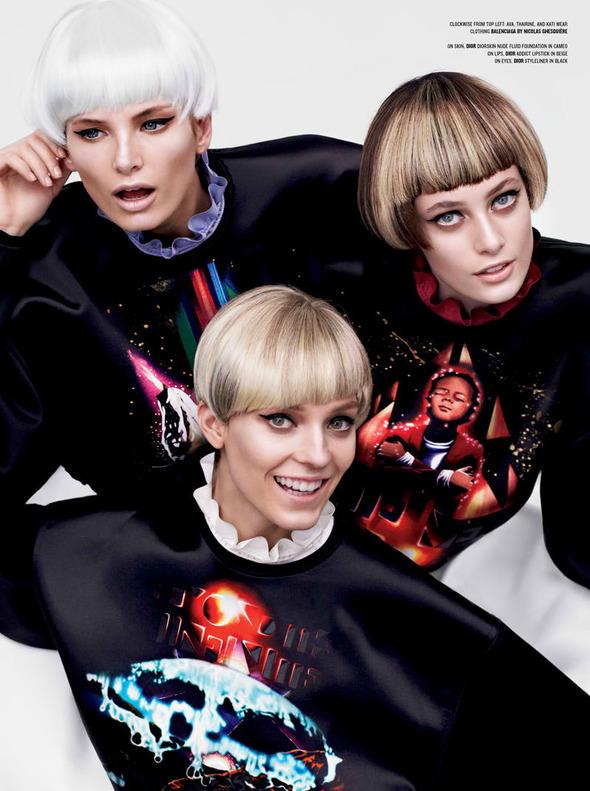 Новые съемки: Vogue, V, Elle и другие. Изображение № 20.