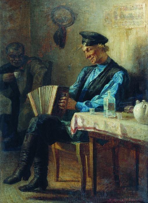 Л.И.Соломаткин, В трактире . Изображение № 40.