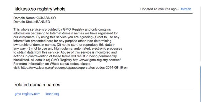 Сайт Kickass Torrents временно прекратил работу. Изображение № 1.
