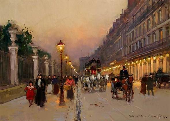Эдуард Леон Кортес. Перенесёмся в Париж. Изображение № 18.