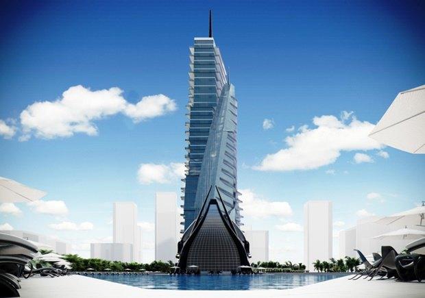 Российский архитектор показал больницу-небоскрёб в виде яхты. Изображение № 7.