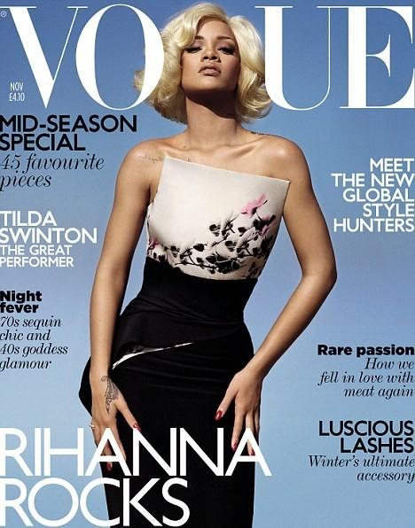 Обложка: Рианна для британского Vogue. Изображение № 1.