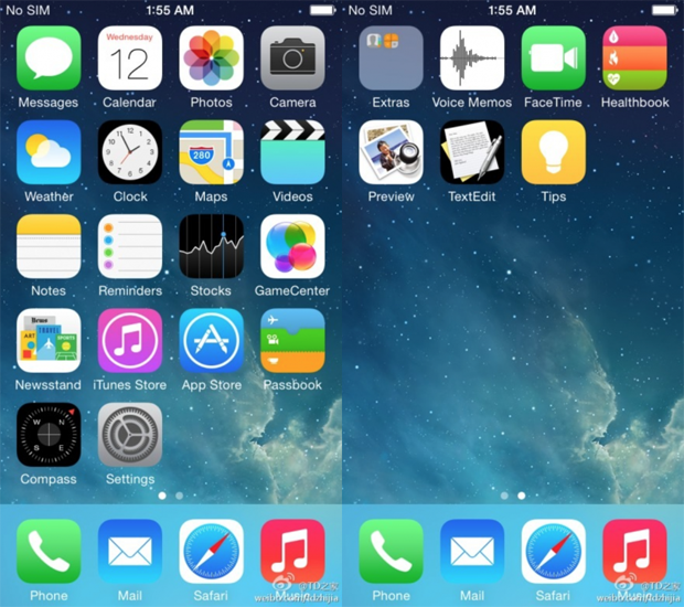Возможные скриншоты iOS 8 показали новые приложения. Изображение № 1.