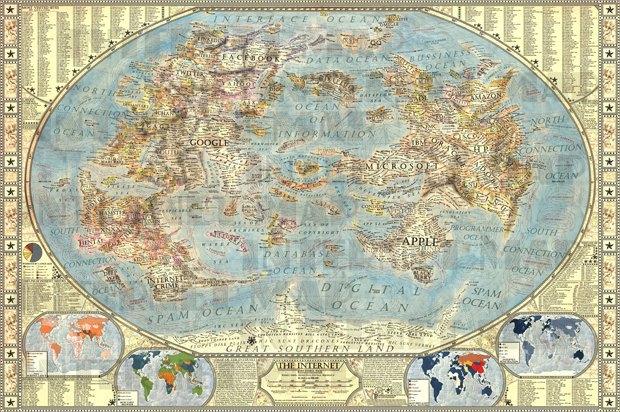 Дизайнер создал детализированную карту интернета. Изображение № 1.