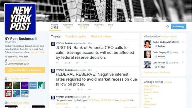 Хакеры взломали твиттеры New York Post и UPI. Изображение № 1.