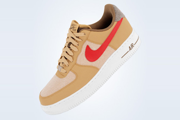 NIKE AIR FORCE 1 (GOLD DENIM). Изображение № 4.