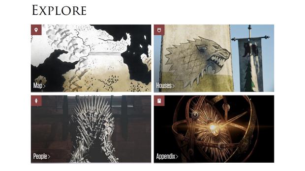 HBO создал интерактивный гид по «Игре престолов». Изображение № 1.