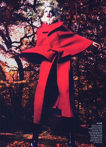 Into the Woods. Natalia Vodyanova. Vogue Sept-09. Изображение № 5.
