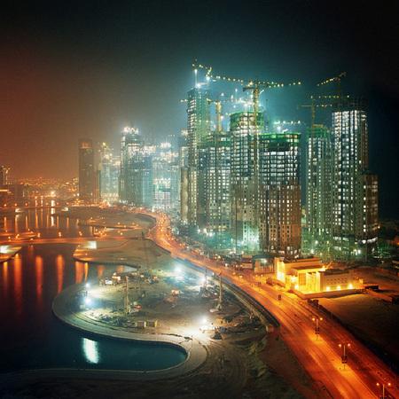 Мегаполисы ночью Гонконг, Дубаи, Нью-Йорк, Шанхай. Изображение № 11.