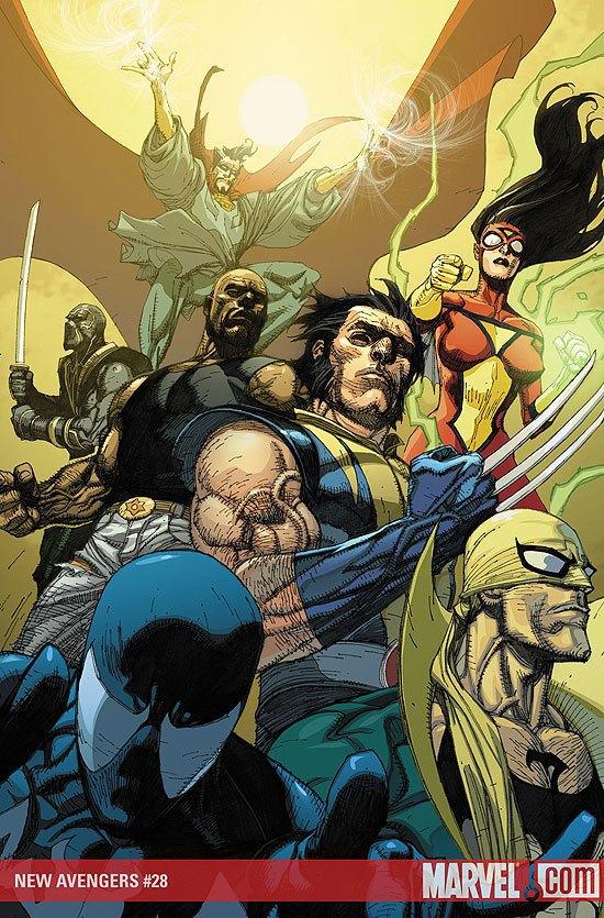 новые мстители — Одна из обложек комикса The New Avengers #28. Изображение № 1.