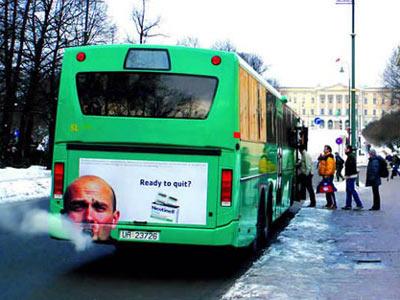 Необычная автобусная реклама. Изображение № 1.