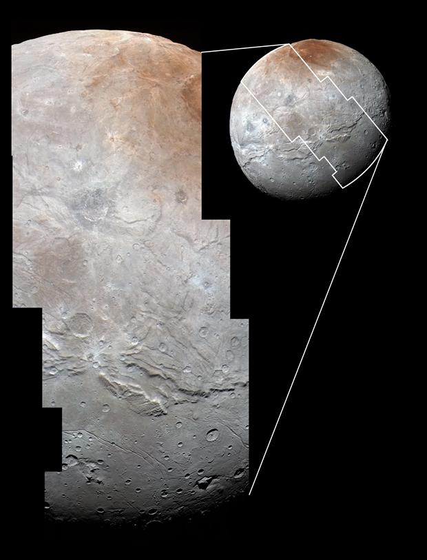 New Horizons передал самые крупные снимки Харона. Изображение № 2.