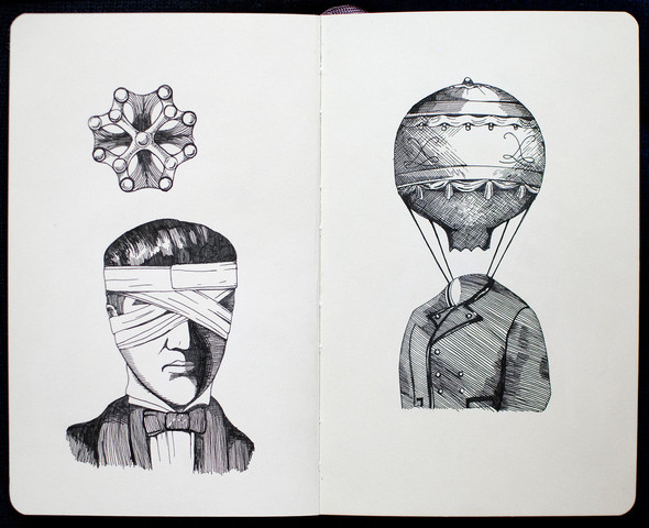 Чёрные ручки, молескин. Изображение №7.