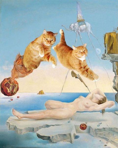 Новый взгляд на полотна великих художников. В главной роли кот. Изображение № 6.