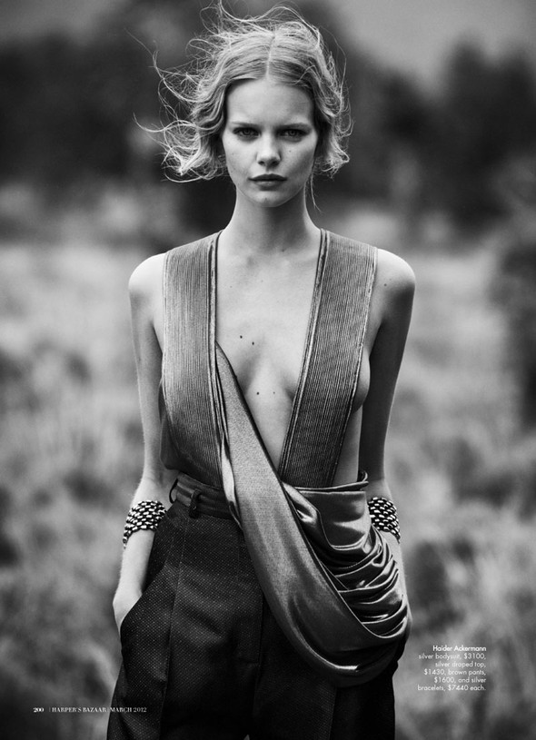 Marloes Horst by Will Davidson for Harpers Bazaar Australia March2012. Изображение № 2.