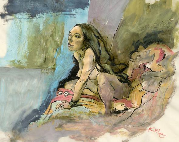 Картины маслом отКента Уильямса (Kent Williams). Изображение № 28.
