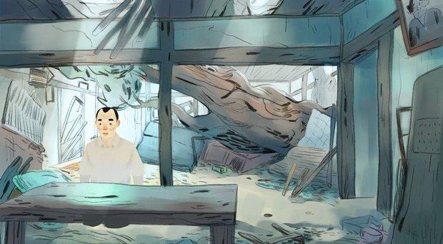 Анимация дня: японец, морской дух и груз прошлого. Изображение № 7.