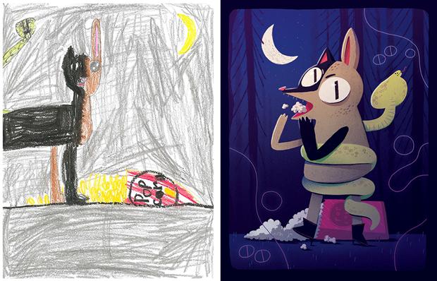 Художники создали монстров наоснове детских рисунков. Изображение № 33.