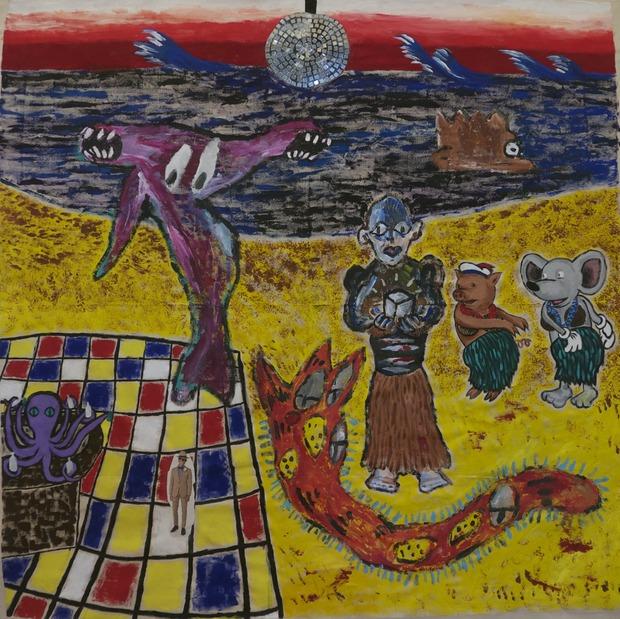 В Нью-Йорке откроется выставка картин Маколея Калкина и The Moldy Peaches. Изображение №2.