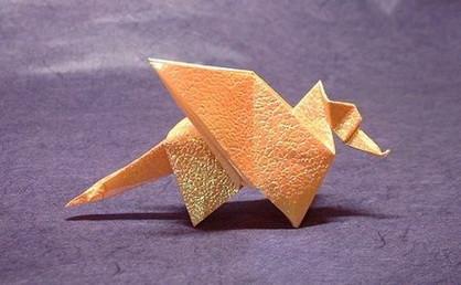 Новогодние драконы в технике оригами. Изображение № 6.