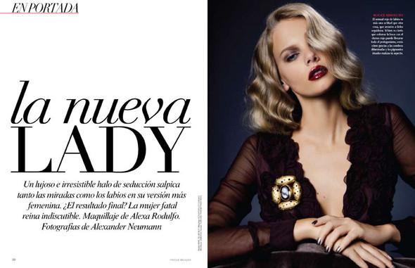 Съёмка: Марло Хорст для Vogue. Изображение № 1.
