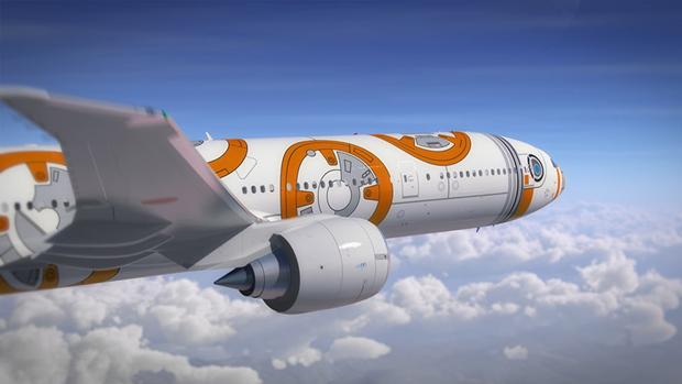 Авиакомпания показала перекраску самолёта под R2-D2. Изображение № 7.