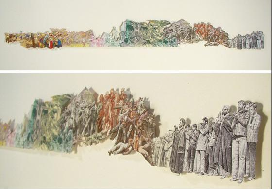 Картины и коллажи из денег Родриго Торреса. Изображение № 8.