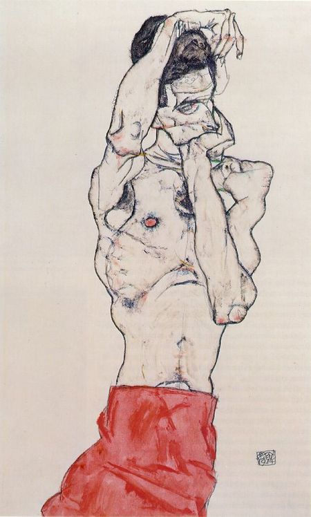Эгон Шиле. Эротика вискусстве живописи ирисунка. Изображение № 25.
