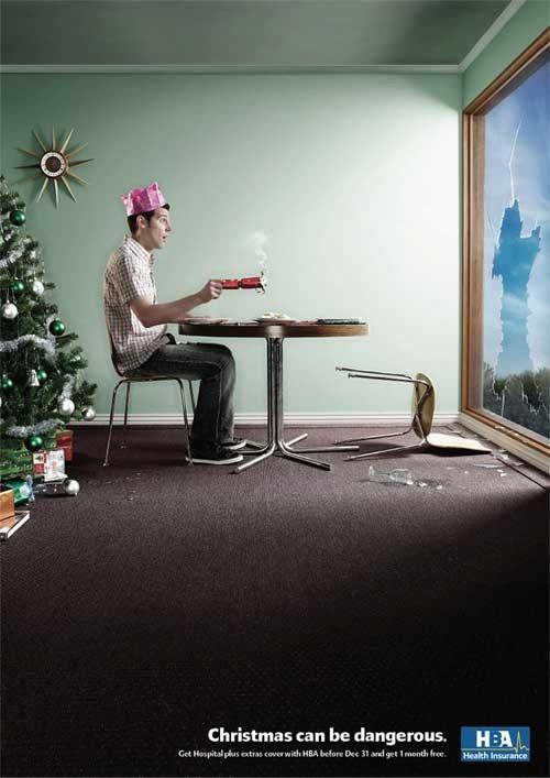 Новогоднее - Рождественский креатив в рекламе. Изображение № 43.