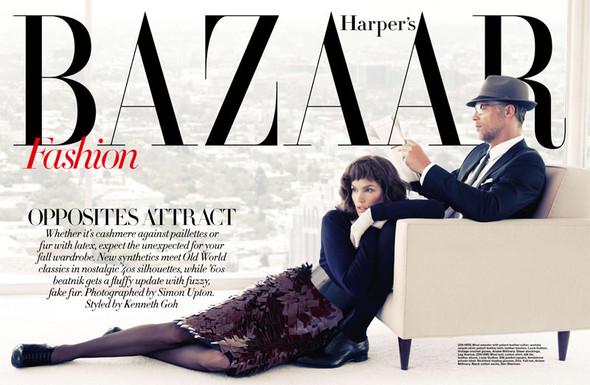 Съёмка: Синди Кроуфорд для Harper's Bazaar. Изображение № 1.