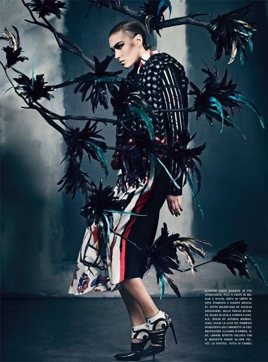 Съемка: Аризона Мьюз и Руби Олдридж для Vogue Италия. Изображение № 2.
