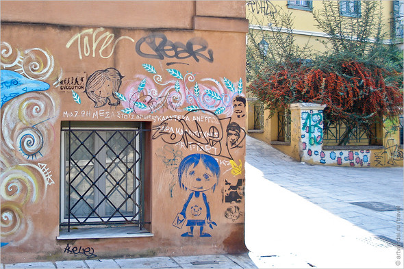 Стрит-арт и граффити Афин, Греция. Часть 2. Изображение № 30.