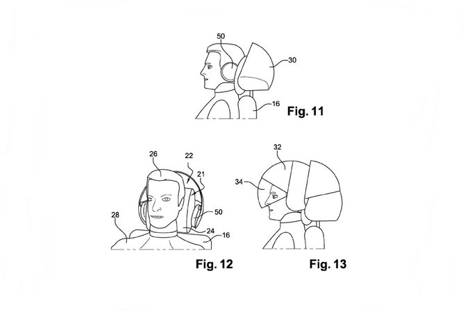 Airbus запатентовал шлем виртуальной реальности для пассажиров. Изображение № 2.