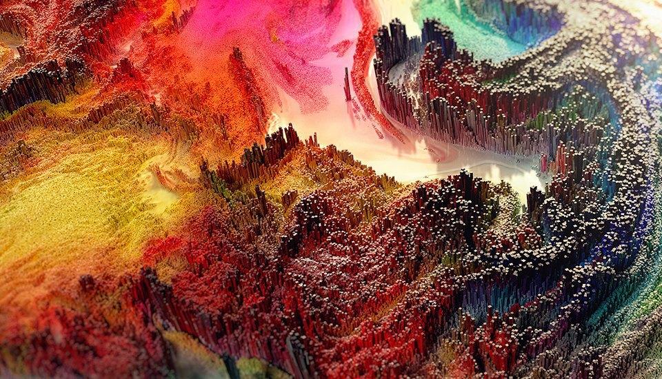 Психоделический мир арабского художника. Изображение № 2.