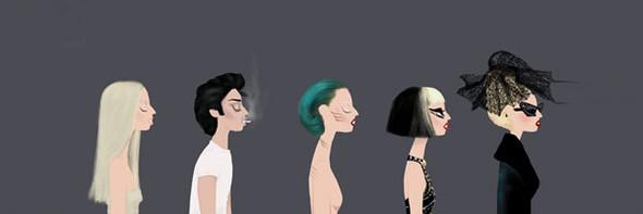 Иллюстрации образов Lady Gaga от Adrian Valencia. Изображение № 15.