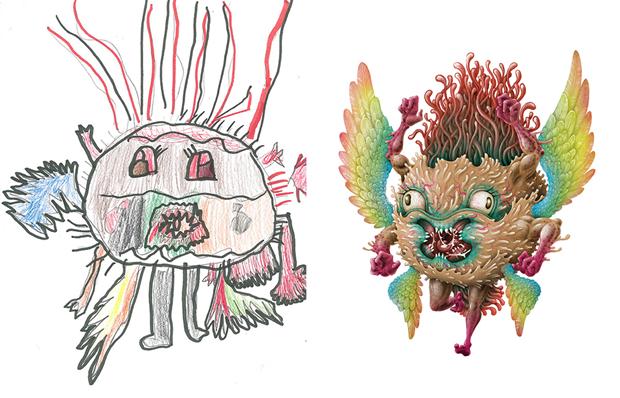 Художники создали монстров наоснове детских рисунков. Изображение № 13.