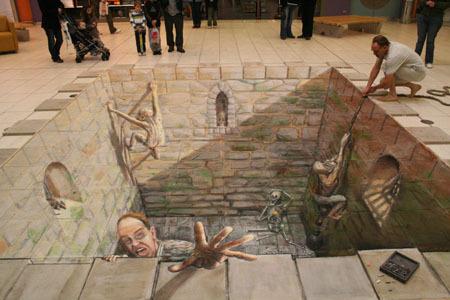 Невероятные рисунки наасфальте. Изображение № 17.