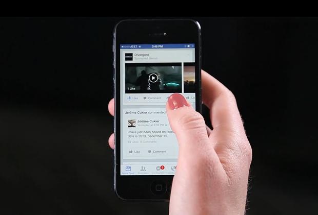 Facebook запускает видеорекламу в ленте пользователей. Изображение № 1.