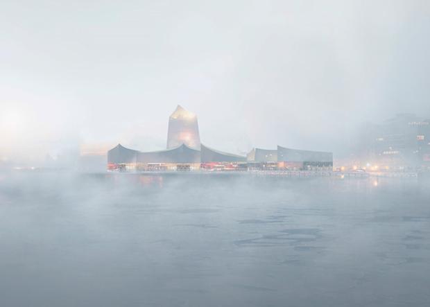 Показан проект Музея Гуггенхайма в Хельсинки . Изображение № 2.