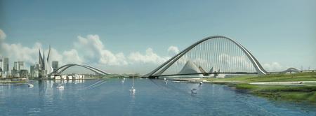Крупнейший вмире мост будет построен вДубаи в2012г. Изображение № 1.