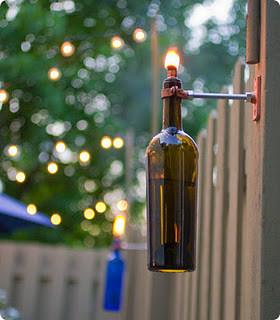 Новогодние украшения из винных бутылок. Изображение № 11.