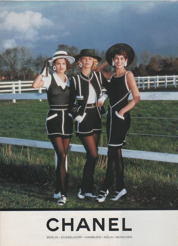 Архивная съёмка: Рекламная кампания Chanel SS 1990. Изображение № 2.