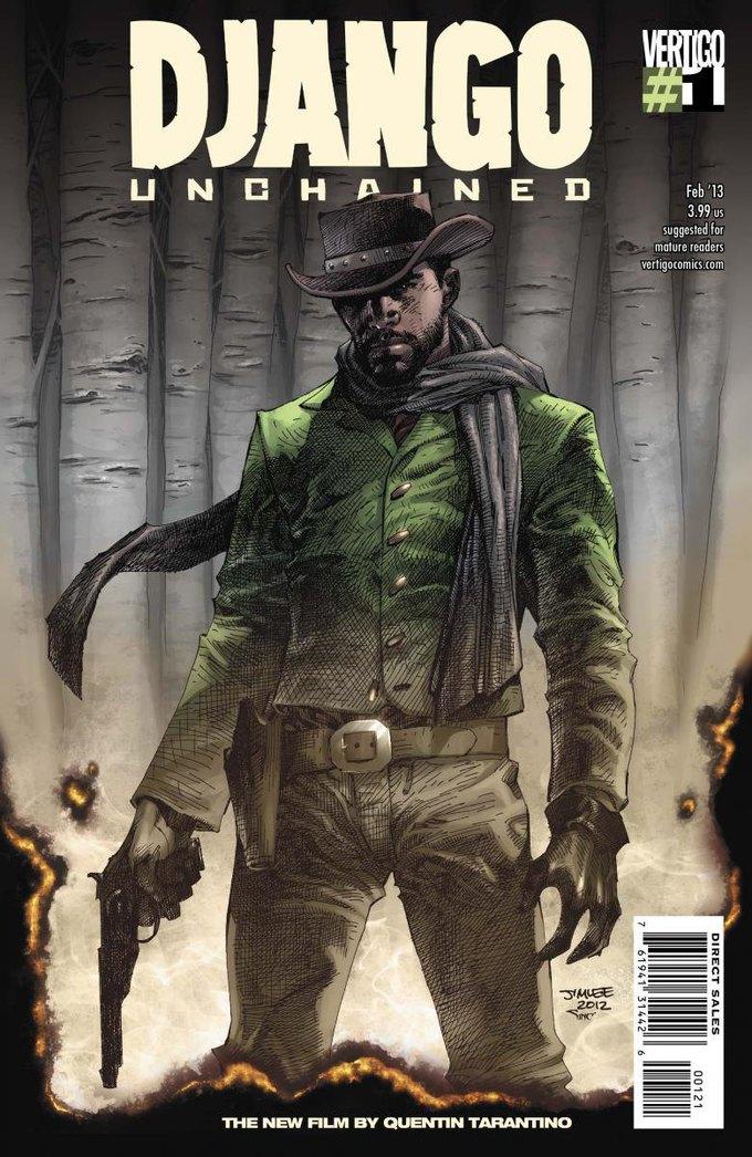 Обложка первого выпуска комикса Django Unchained. Изображение № 1.
