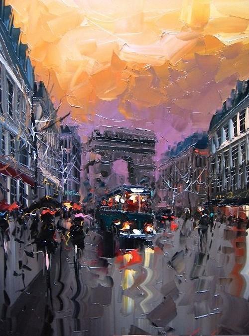 Красные зонтики художника Kal Gajoum. Изображение № 17.