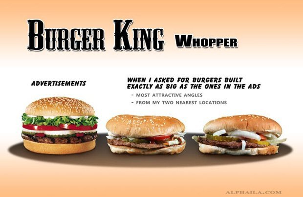 Фотограф сравнил бургеры в рекламе и в реальной жизни. Изображение № 3.